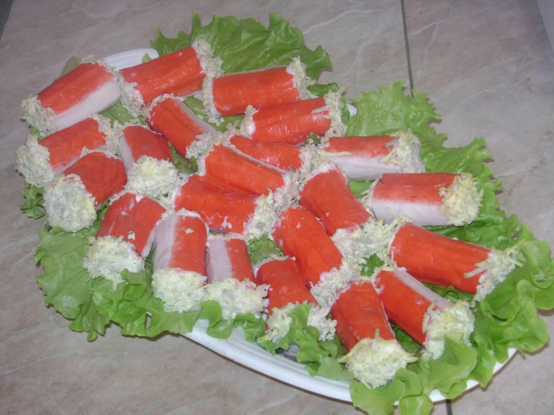 Закуски из крабовые палочки рецепты пошагово
